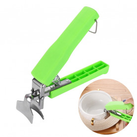 1PC New Green Silicone Handle Tongs Bowl Holder Dish Plate Clamp Pot Pan Gripper Clip Kitchen Utensils Tool